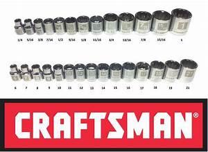 Craftsman Easy Read 28 Pc Sae Standard  U0026 Metric 3  8 U0026quot  Drive