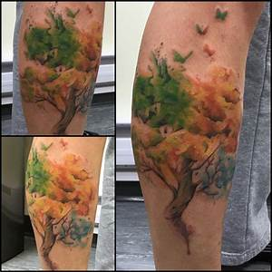 Watercolor Tree Tattoo | Venice Tattoo Art Designs