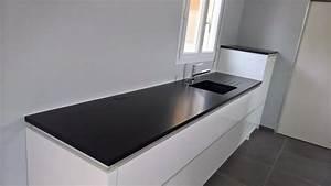 Plan De Travail Granit : plan de travail granit noir ~ Dailycaller-alerts.com Idées de Décoration
