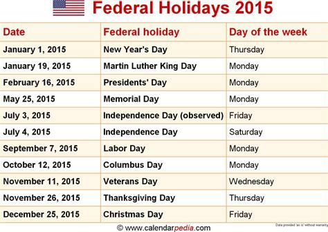 opinions federal holidays united states
