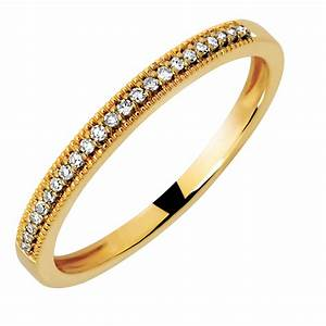 Wedding Band With 115 Carat TW Of Diamonds In 10kt Yellow