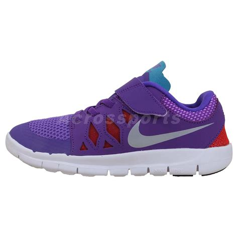 nike free 5 psv v preschool velcro 2014 new purple running 260 | 644448500 1