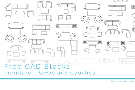 cad blocks sofas  couches   architecture