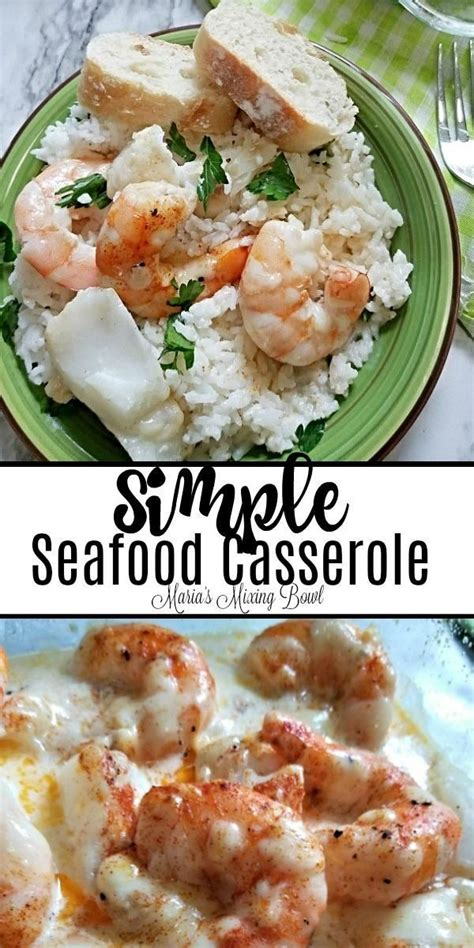 Try this easy seafood casserole made with shrimp, crab, lobster, parmesan cheese, wine, and a seasoned white sauce. Simple Seafood Casserole - The simplest yet our favorite ...