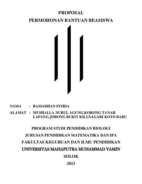 proposal beasiswa rf