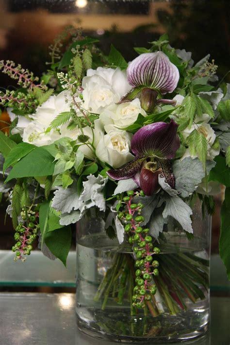 Flower Arrangement With Lady Slipper Orchids Maison De