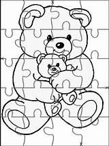 Puzzle Puzzles Coloring Pages Printable Jigsaw Cut Animals Activities Para Imprimir Rompecabezas Animal Websincloud Piece Templates Mycoloring Sheets Crafts Books sketch template