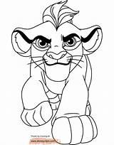 Lion Coloring Guard Pages Kion Disneyclips Leon sketch template