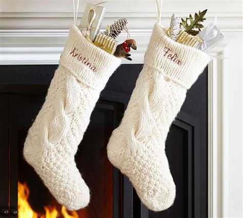 cable knit christmas stockings  photo knitted