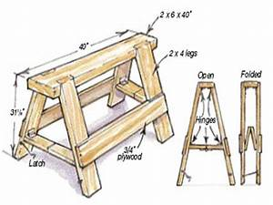 Short benches, wooden folding sawhorse plans best sawhorse