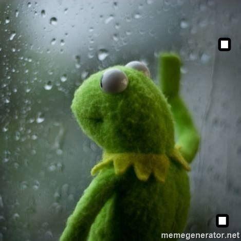 Frog Meme Generator - kermit the frog rolling up window