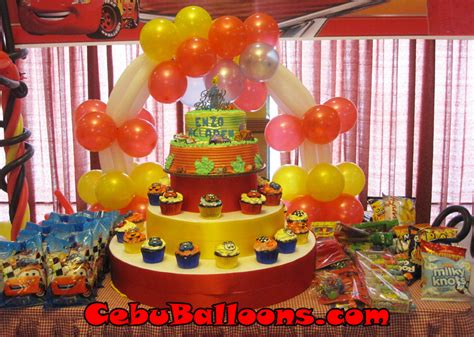 cake arch   cars theme cebu balloons