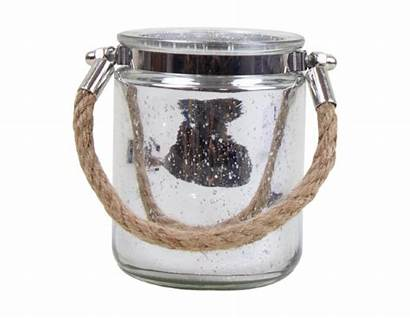 Candle Holder 7cm Glass Metallic Enlarge Irish