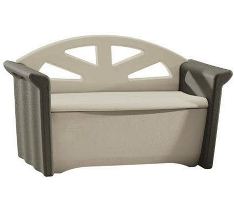 53 quot x 24 quot rubbermaid plastic deck storage box bench