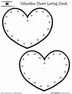 printable lacing cards with hearts for valentines day With lacing card templates