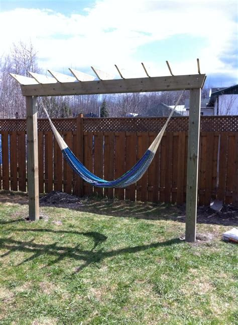 Hammock Posts In Ground by Diy Hammock Stand Afternoon Project And It 2