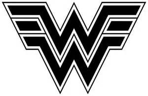 Wonder Woman Logo Black and White