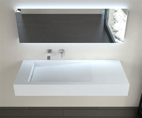 low profile modern resin wall mounted sink wt 05
