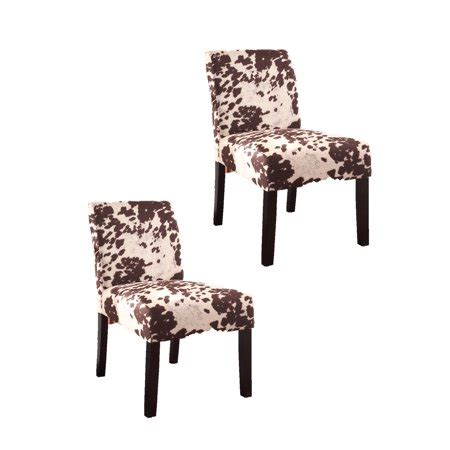 Cowhide Accent Chair by Us Pride Furniture Cowhide Print Accent Chair Set Of 2