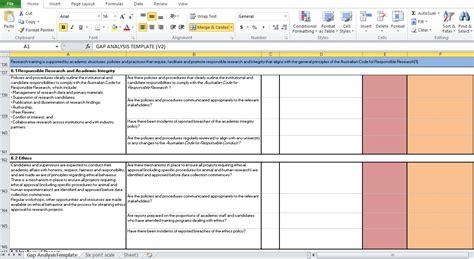 Gap Analysis Template Free Resume Sle 187 Gap Analysis Template Excel Resume