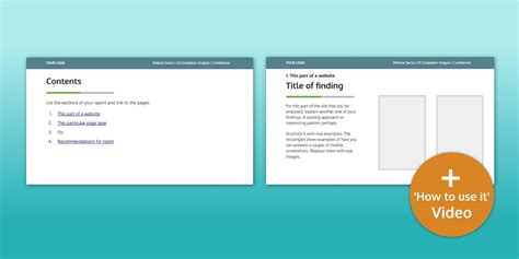 ux competitor analysis report template ux design templates