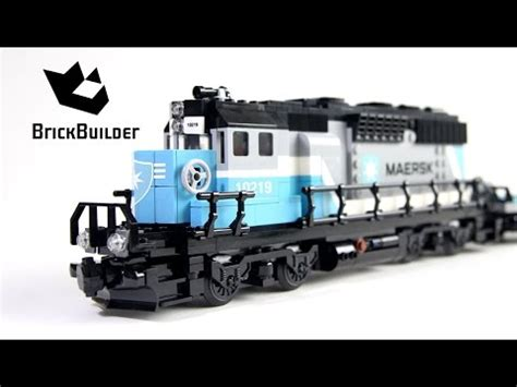 Lego Trains 10219 Maersk Train  Lego Speed Build Youtube