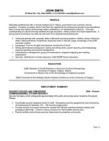 professional security resume sles top retail resume templates sles