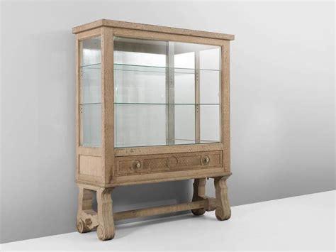oak kitchen cabinets deco vitrine cabinet in cerused oak for at 1stdibs 3450