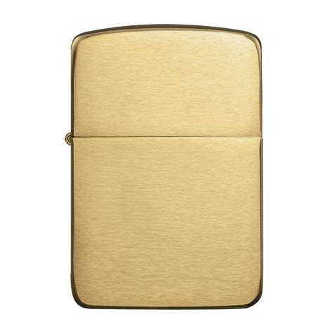 Authentic Zippo Lighter - Brushed Brass 1941 Replica ...