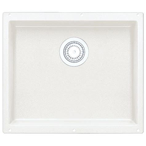 white undermount kitchen sinks single bowl blanco precis undermount granite 21 in single basin 2116