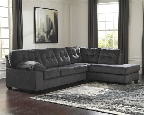 ashley furniture accrington granite raf chaise sectional  classy home