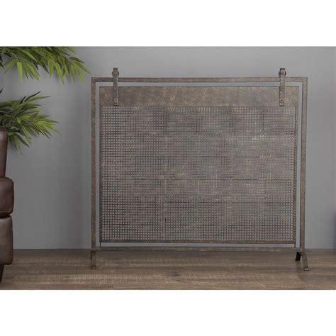 fireplace mesh material american home 38 in x 45 in metallic black iron mesh