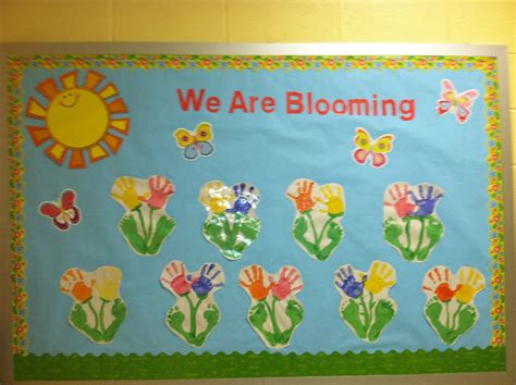 My Spring Bulletin Board! Super Cute And Colorful