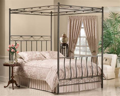 Hillsdale Camelot Metal Canopy Bed Hd-171-cnp-bed At