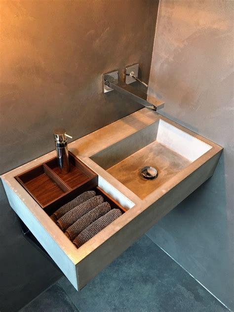Waschbecken Mit Holz by Waschbecken In Beton Und Holz B K Design