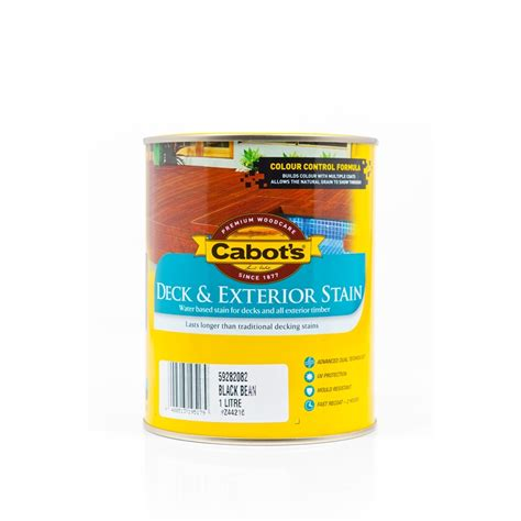cabots deck stain bunnings cabot s deck exterior stain water based 1l blackbean
