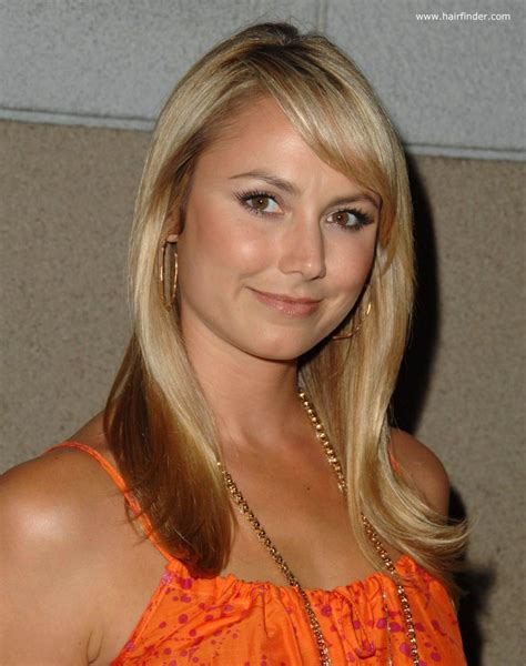 stacy keibler long blonde healthy  hair  hazel