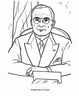 Truman Coloring Presidents Harry Pages President Usa Printable Printables Facts Kennedy Presidential John Patriotic Sheets Comments Getcoloringpages Printing Help States sketch template
