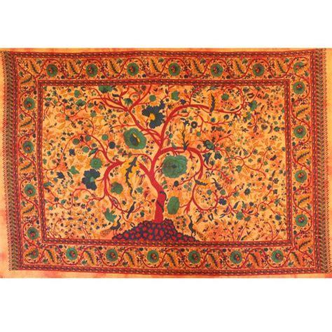 tenture murale arbre de vie tenture indienne quot arbre de vie quot tentures murales artisanales sur artiglobe