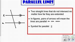 Parallel And Perpendicular Lines Definition And Diagram