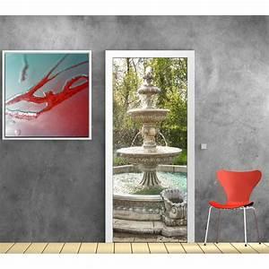 Papier Peint Sticker : papier peint porte d co fontaine art d co stickers ~ Premium-room.com Idées de Décoration