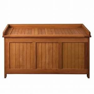 Banc De Rangement Bois : coffre banc de rangement en bois exotique ~ Teatrodelosmanantiales.com Idées de Décoration