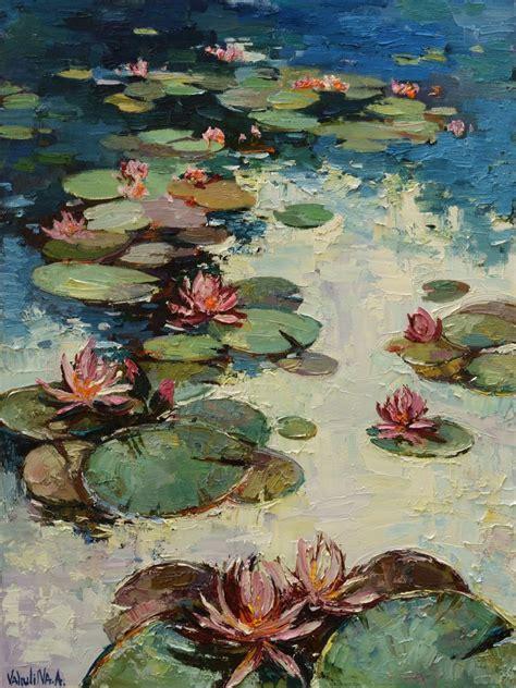 Water lilies Original Oil painting   Artfinder