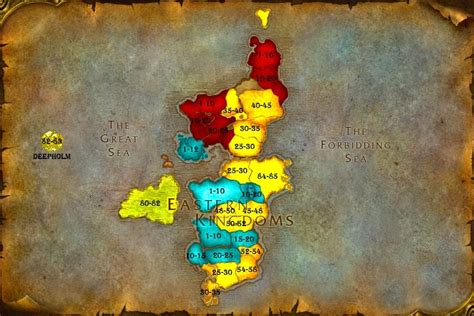 horde wow eastern kingdoms map zone levels warcraft azeroth level kingdom wowhead leveling maps cataclysm progression ranges through stackexchange gaming