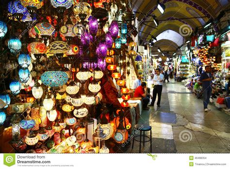 light store in grand bazaar of istanbul turkey editorial