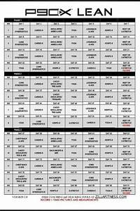 Exercise Chart Pdf P90x Lean Workout Schedule Calendar Lean Workout P90x