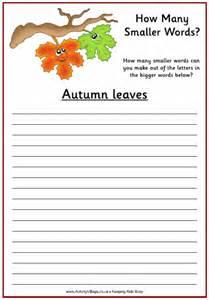 Autumn Word Scramble Puzzles Printable