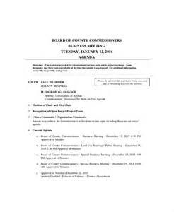 Sample Business Meeting Agenda Template