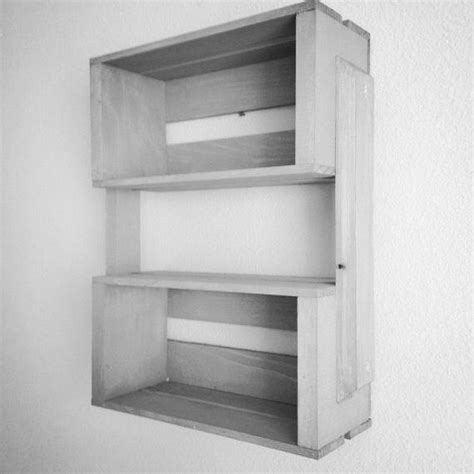 wooden crate shelves images  pinterest wall