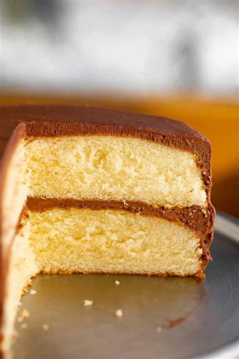 classic yellow cake dinner  dessert